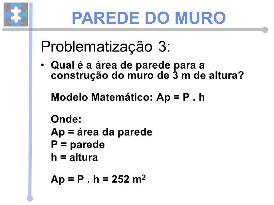 PAREDE DO MURO Problematização 3:
