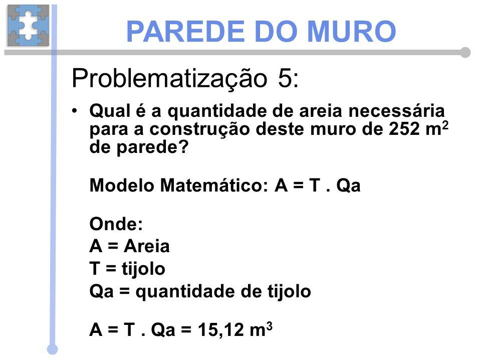 PAREDE DO MURO Problematização 5: