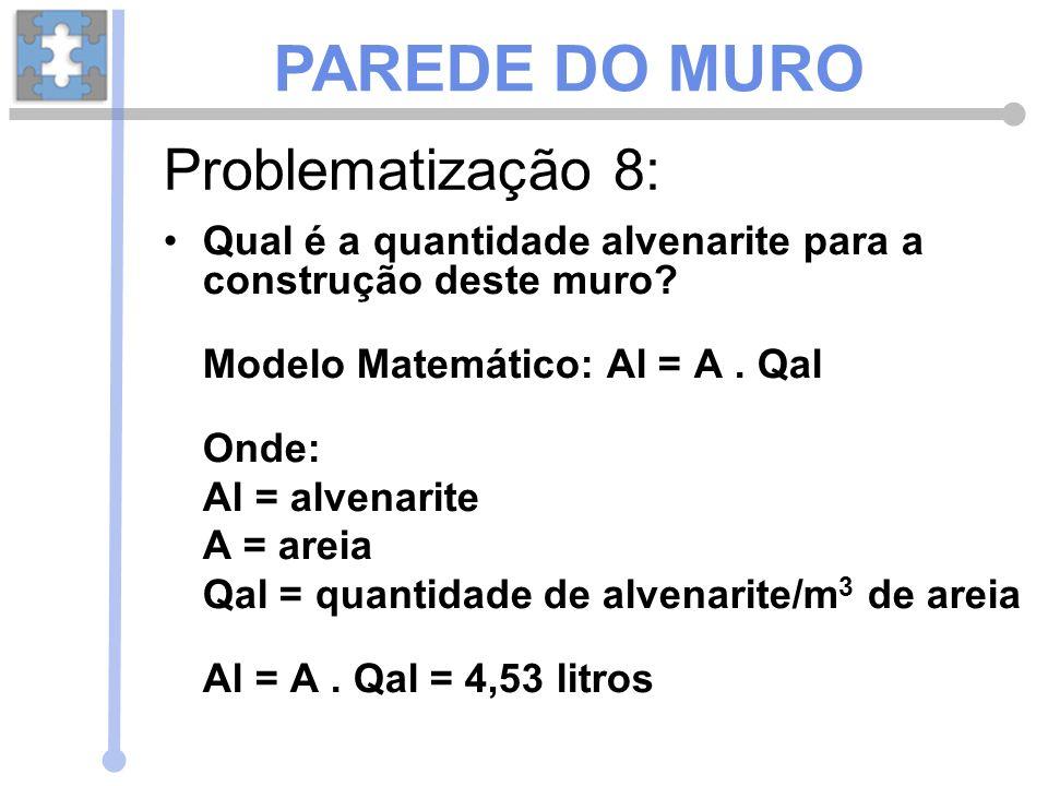 PAREDE DO MURO Problematização 8: