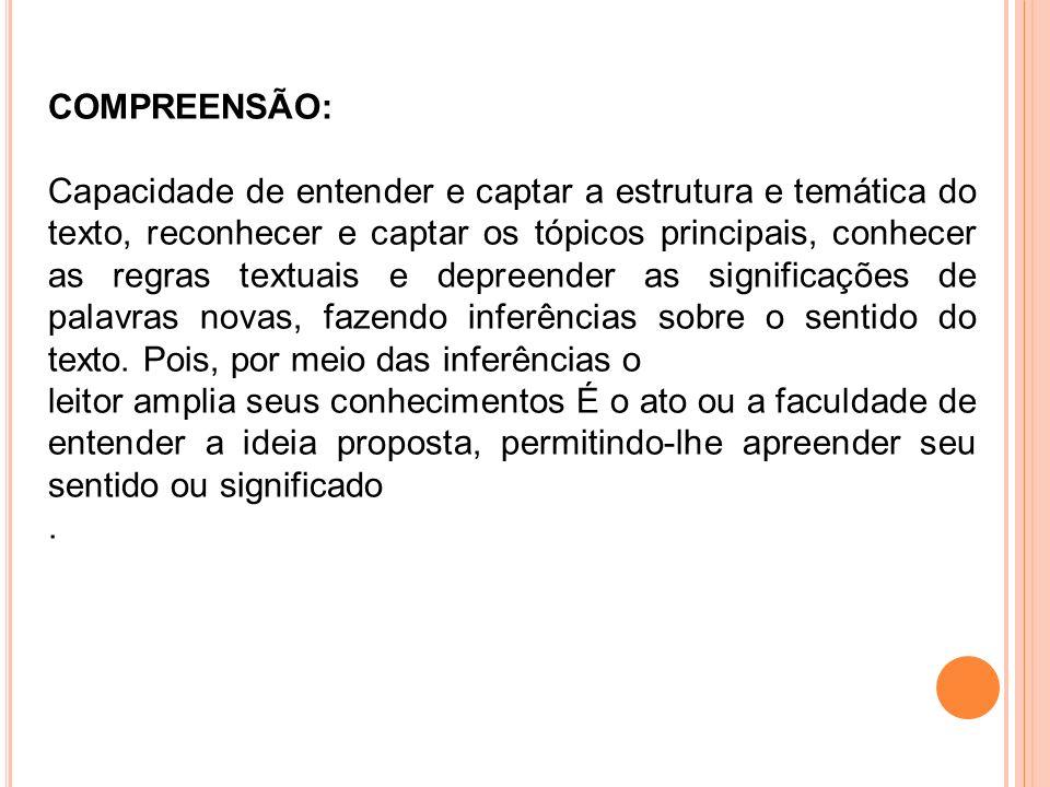 COMPREENSÃO: