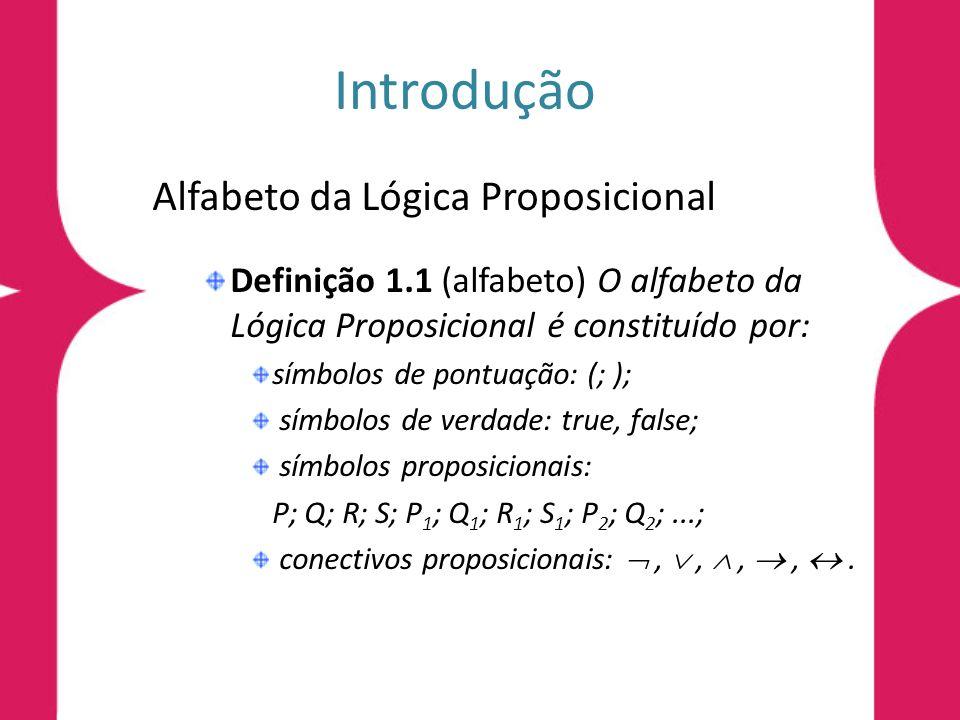 Introdução Alfabeto da Lógica Proposicional