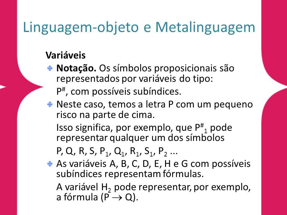 Linguagem-objeto e Metalinguagem
