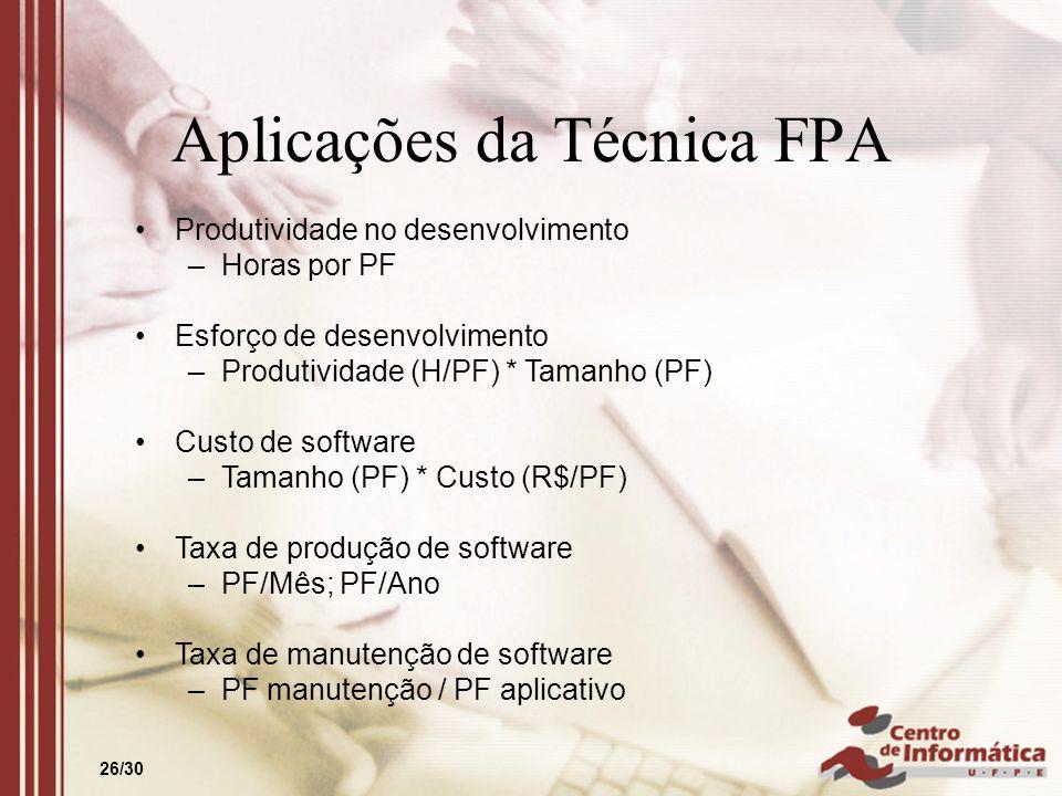 Aplicações da Técnica FPA
