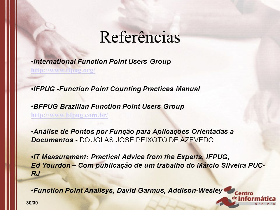 Referências International Function Point Users Group