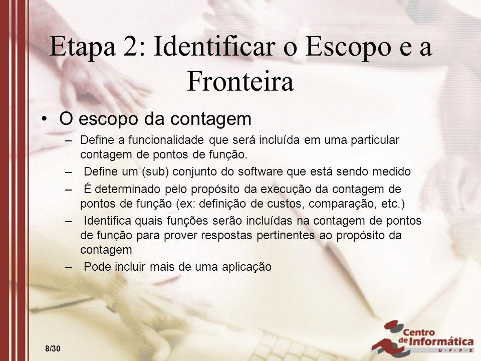 Etapa 2: Identificar o Escopo e a Fronteira