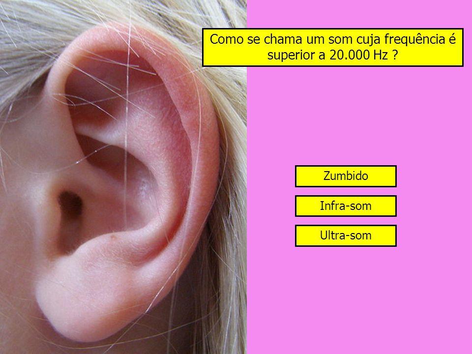 Como se chama um som cuja frequência é superior a 20.000 Hz
