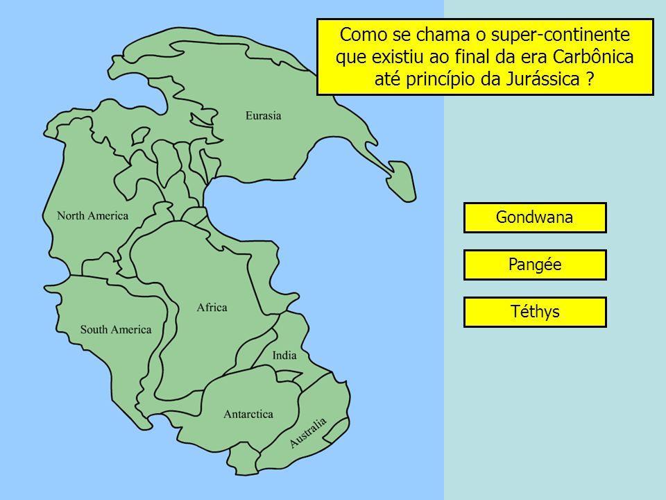 Como se chama o super-continente que existiu ao final da era Carbônica até princípio da Jurássica