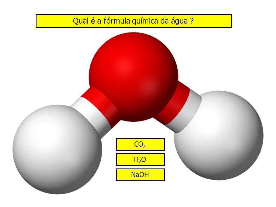 Qual é a fórmula química da água