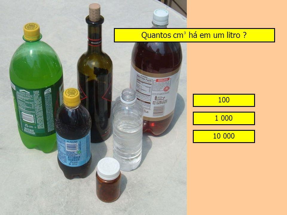 Quantos cm³ há em um litro
