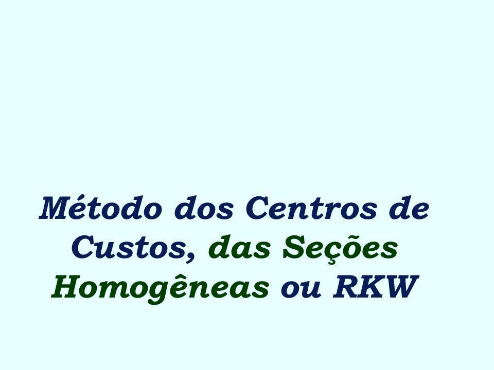 Método dos Centros de Custos, das Seções Homogêneas ou RKW