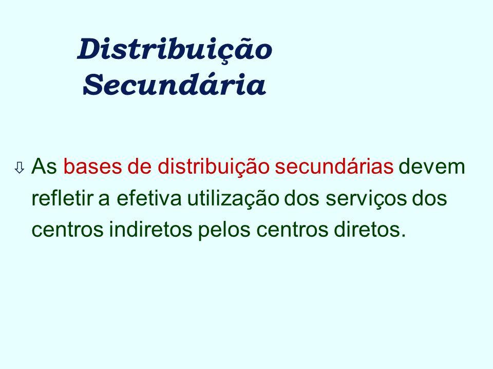 Distribuição Secundária