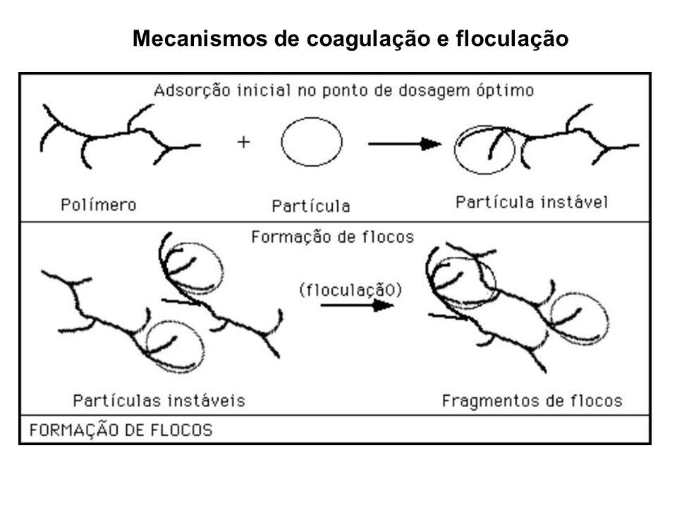 Mecanismos de coagulação e floculação