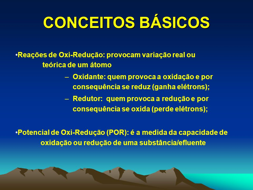 CONCEITOS BÁSICOSReações de Oxi-Redução: provocam variação real ou teórica de um átomo.