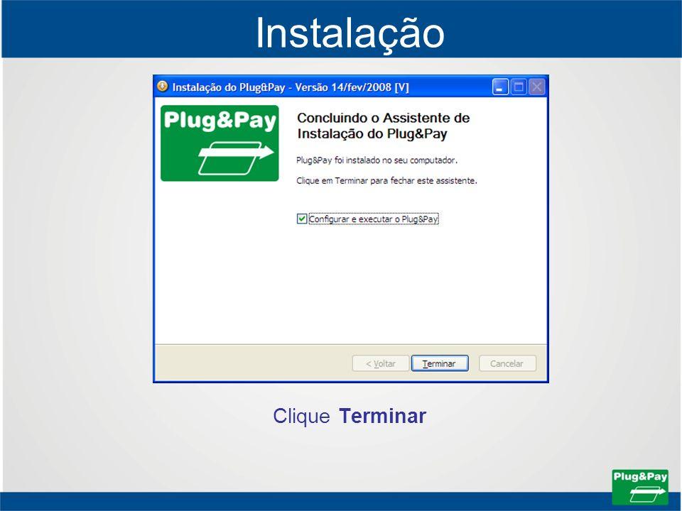Instalação Clique Terminar