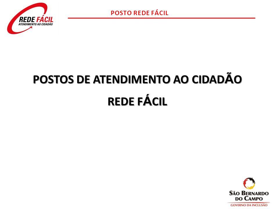 POSTOS DE ATENDIMENTO AO CIDADÃO