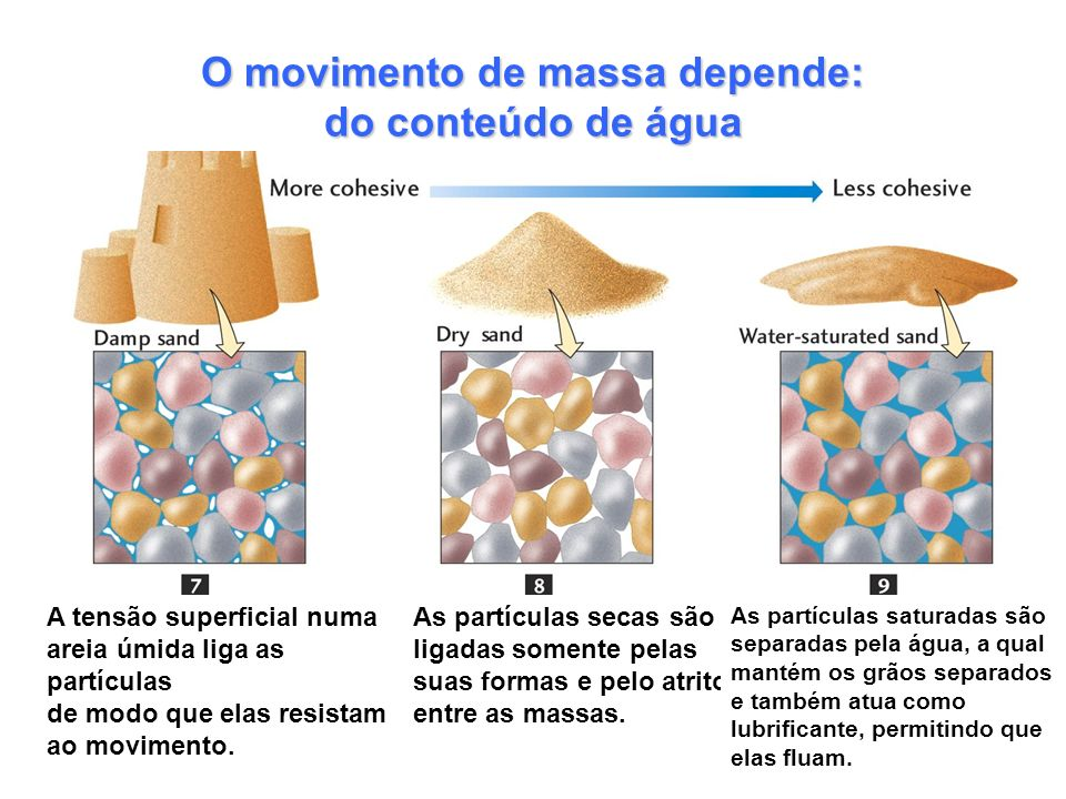 O movimento de massa depende: