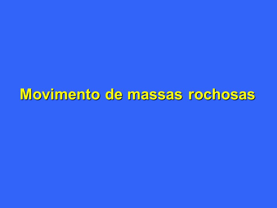 Movimento de massas rochosas