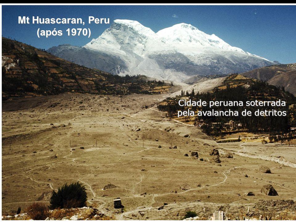 Cidade peruana soterrada pela avalancha de detritos