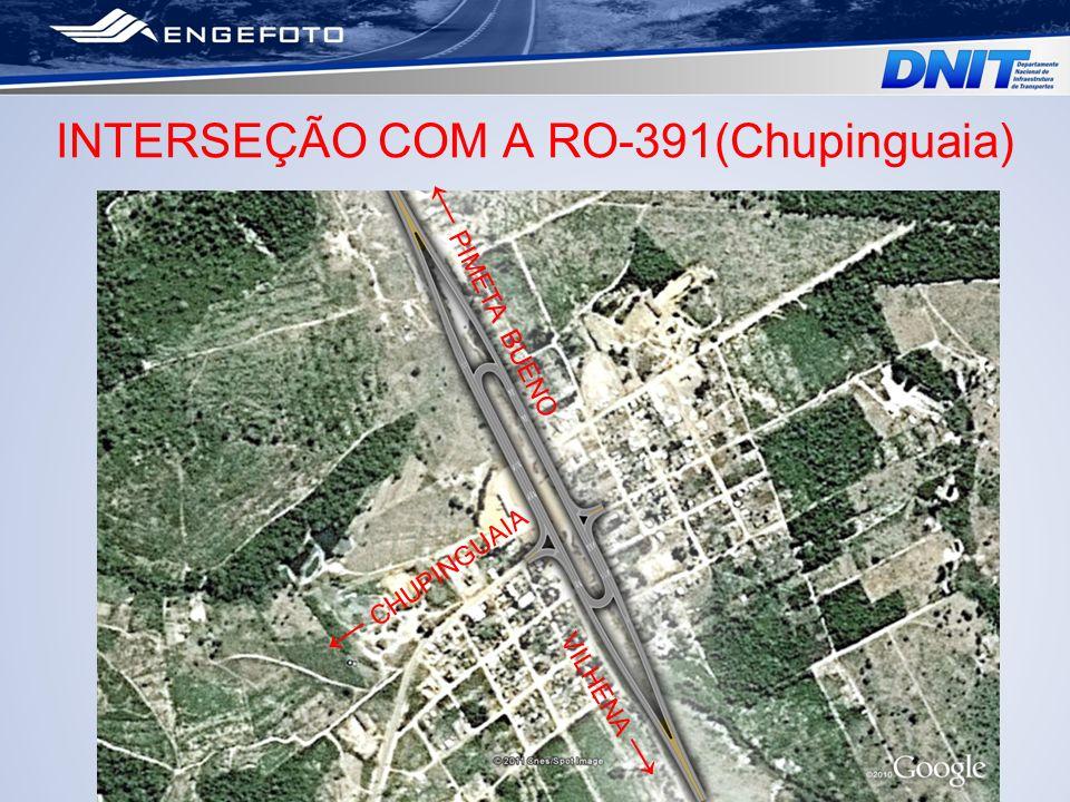 INTERSEÇÃO COM A RO-391(Chupinguaia)