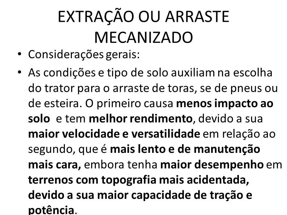 EXTRAÇÃO OU ARRASTE MECANIZADO