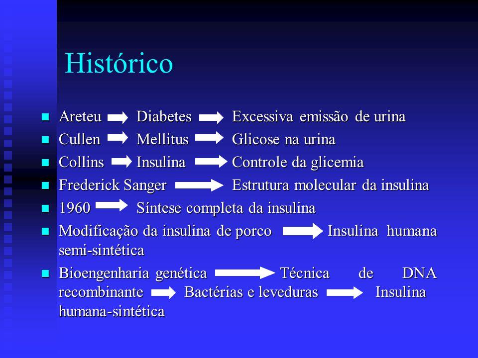 Histórico Areteu Diabetes Excessiva emissão de urina