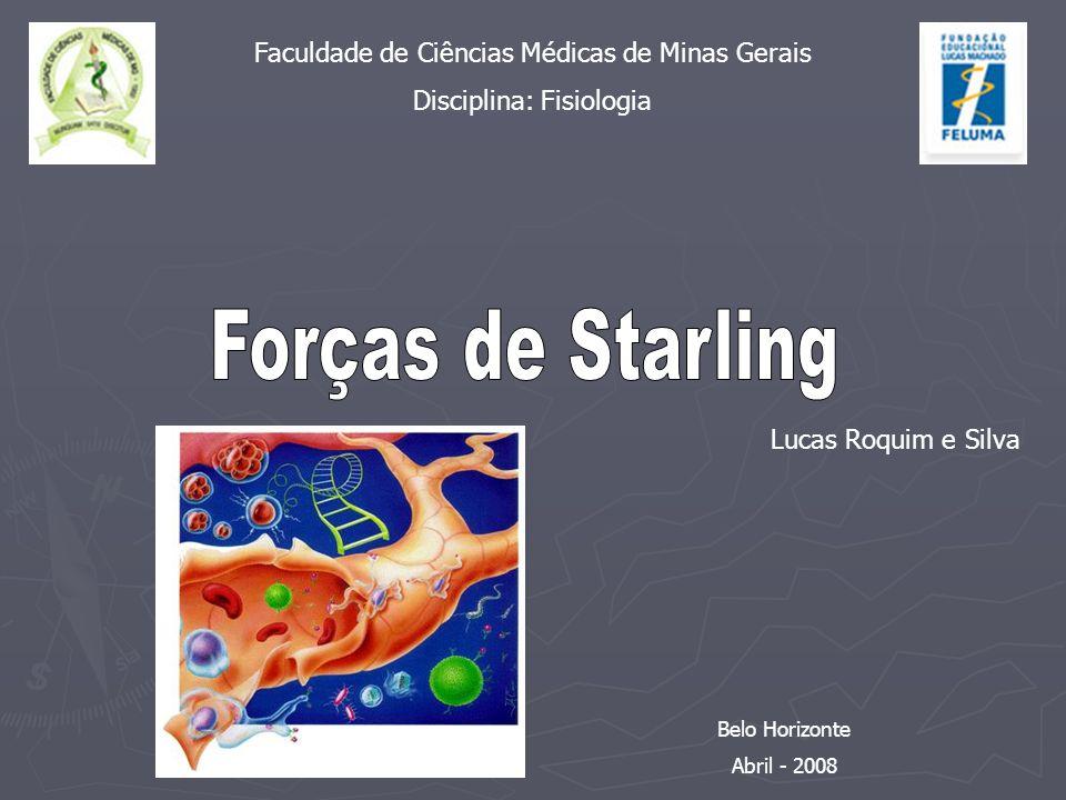 Forças de Starling Faculdade de Ciências Médicas de Minas Gerais