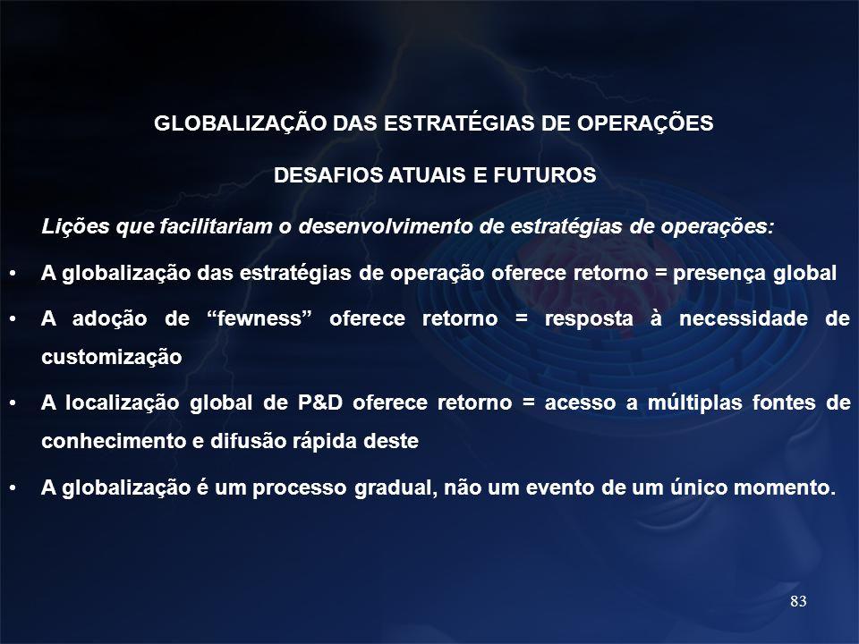 GLOBALIZAÇÃO DAS ESTRATÉGIAS DE OPERAÇÕES DESAFIOS ATUAIS E FUTUROS