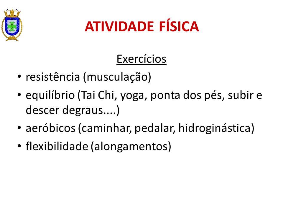 ATIVIDADE FÍSICA Exercícios resistência (musculação)