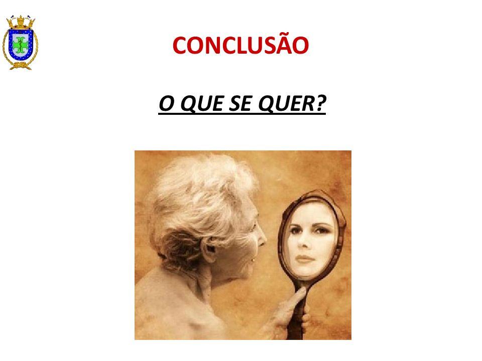 CONCLUSÃO O QUE SE QUER