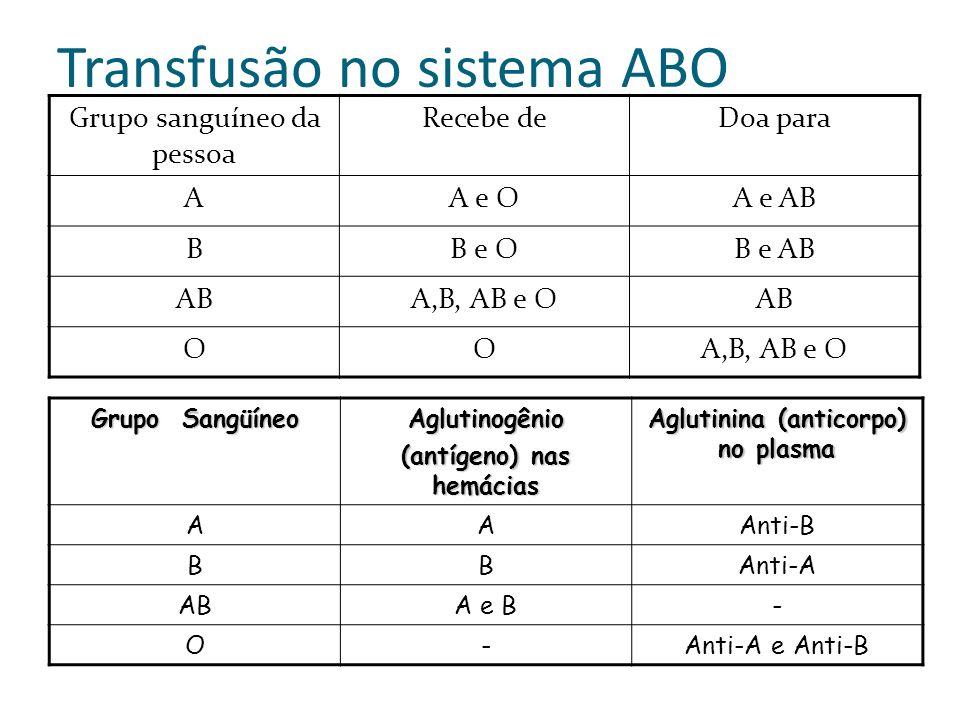 Transfusão no sistema ABO