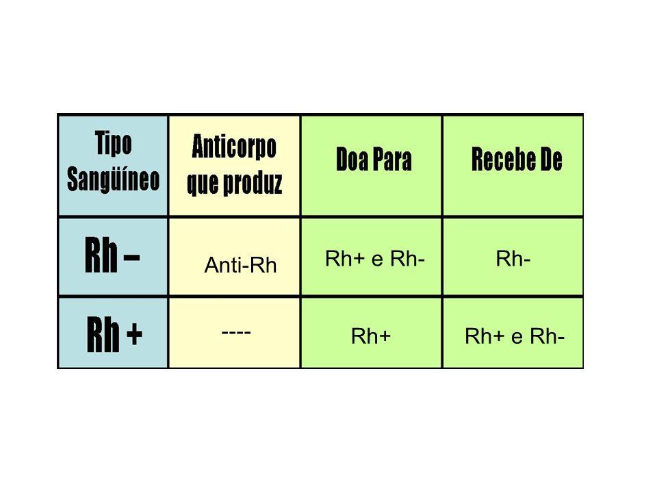 Rh+ e Rh- Rh- Anti-Rh ---- Rh+ Rh+ e Rh-