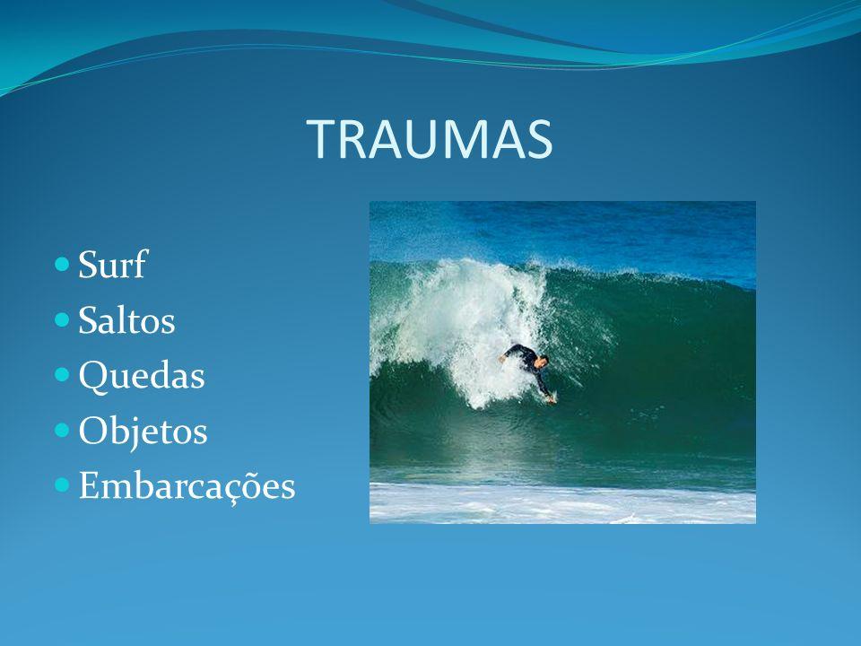 TRAUMAS Surf Saltos Quedas Objetos Embarcações