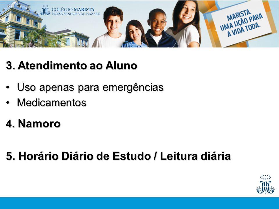 5. Horário Diário de Estudo / Leitura diária