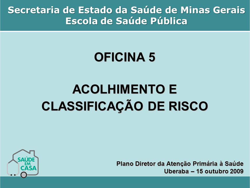 Secretaria de Estado da Saúde de Minas Gerais Escola de Saúde Pública