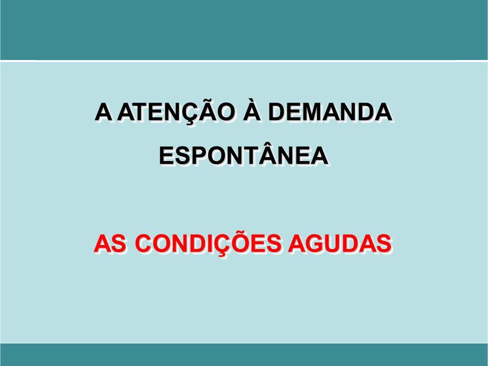A ATENÇÃO À DEMANDA ESPONTÂNEA