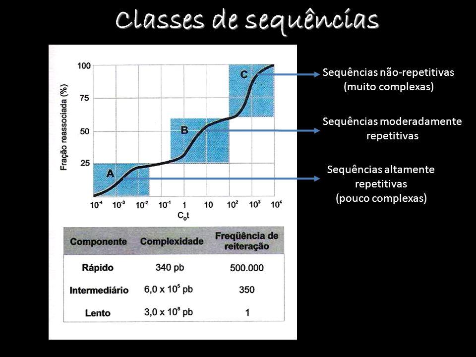 Classes de sequências Sequências não-repetitivas (muito complexas)