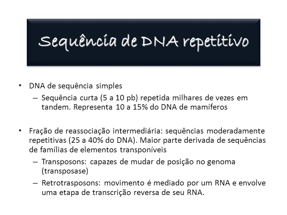 Sequência de DNA repetitivo