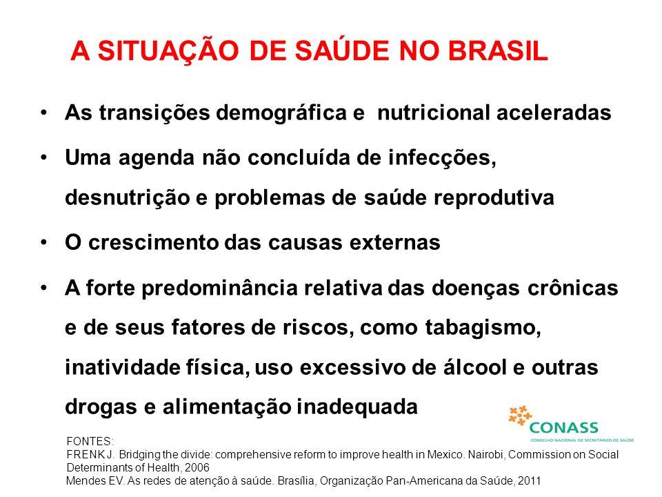 A SITUAÇÃO DE SAÚDE NO BRASIL