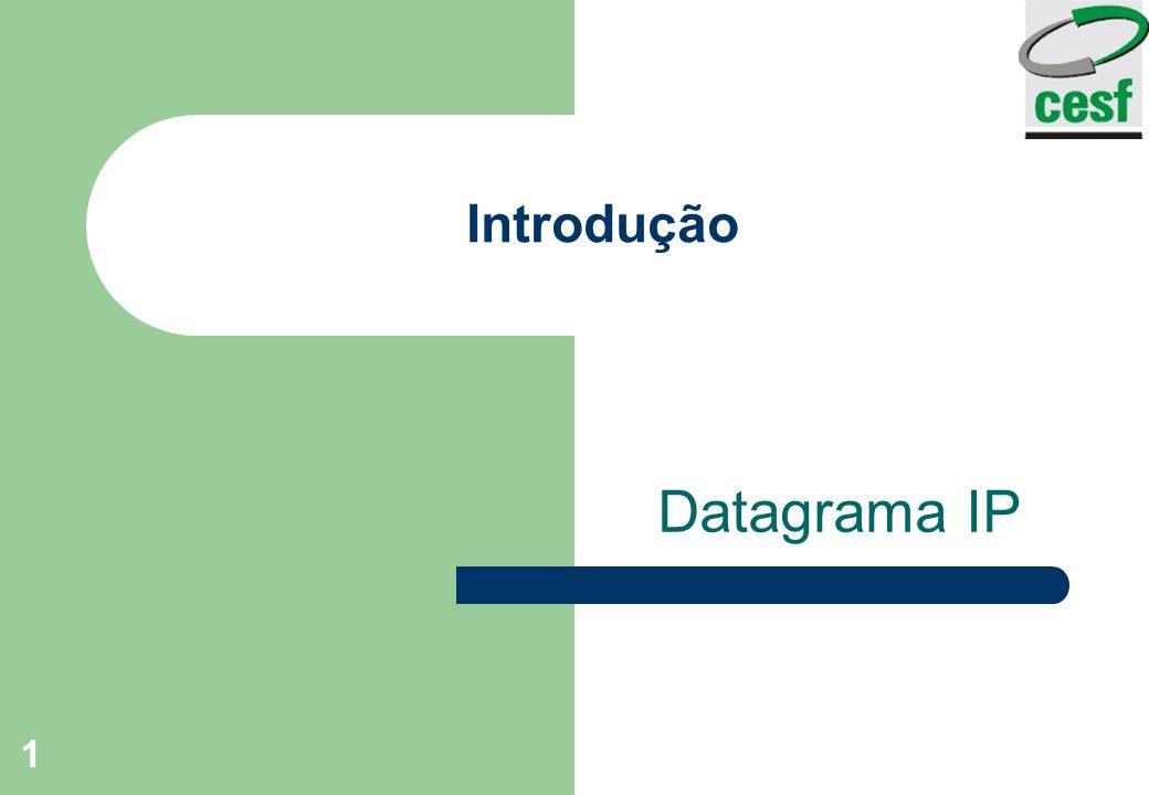 Introdução Datagrama IP
