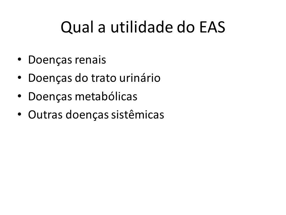 Qual a utilidade do EAS Doenças renais Doenças do trato urinário