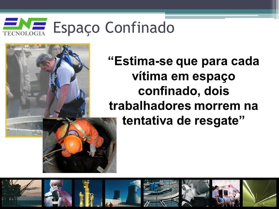 Espaço Confinado Estima-se que para cada vítima em espaço confinado, dois trabalhadores morrem na tentativa de resgate