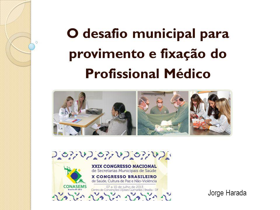 O desafio municipal para provimento e fixação do Profissional Médico