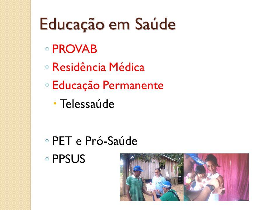 Educação em Saúde PROVAB Residência Médica Educação Permanente