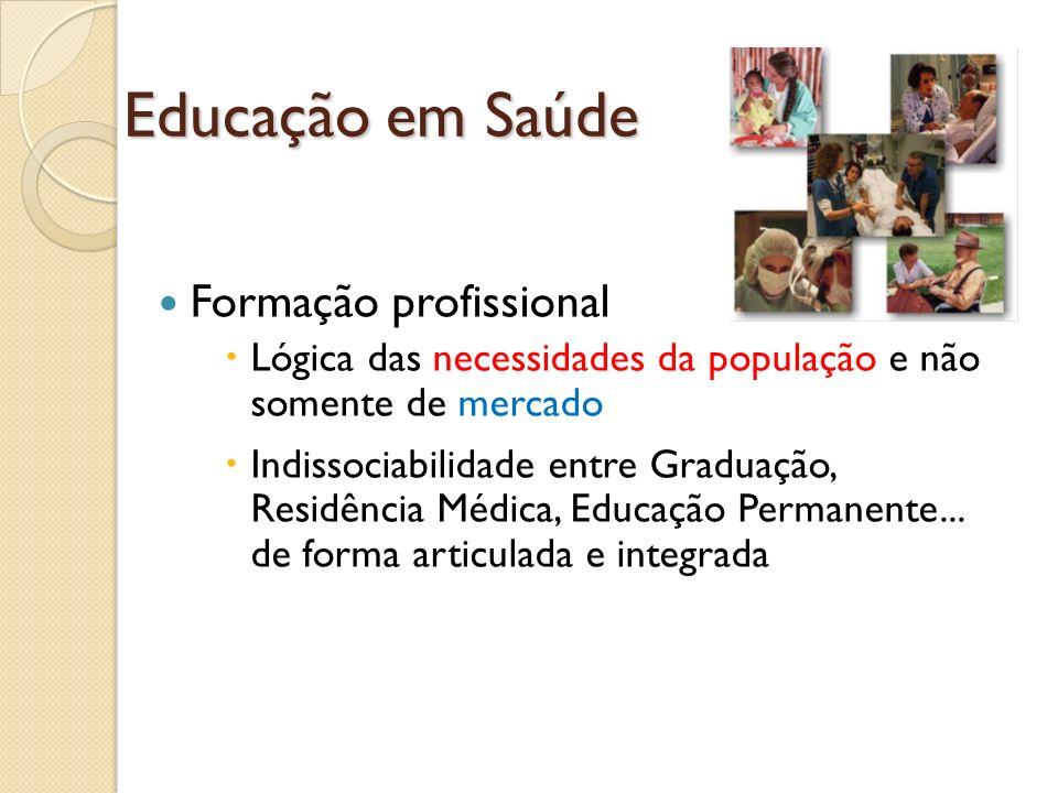 Educação em Saúde Formação profissional