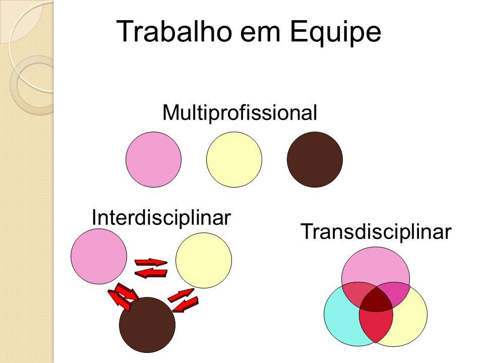 Trabalho em Equipe Multiprofissional Interdisciplinar Transdisciplinar