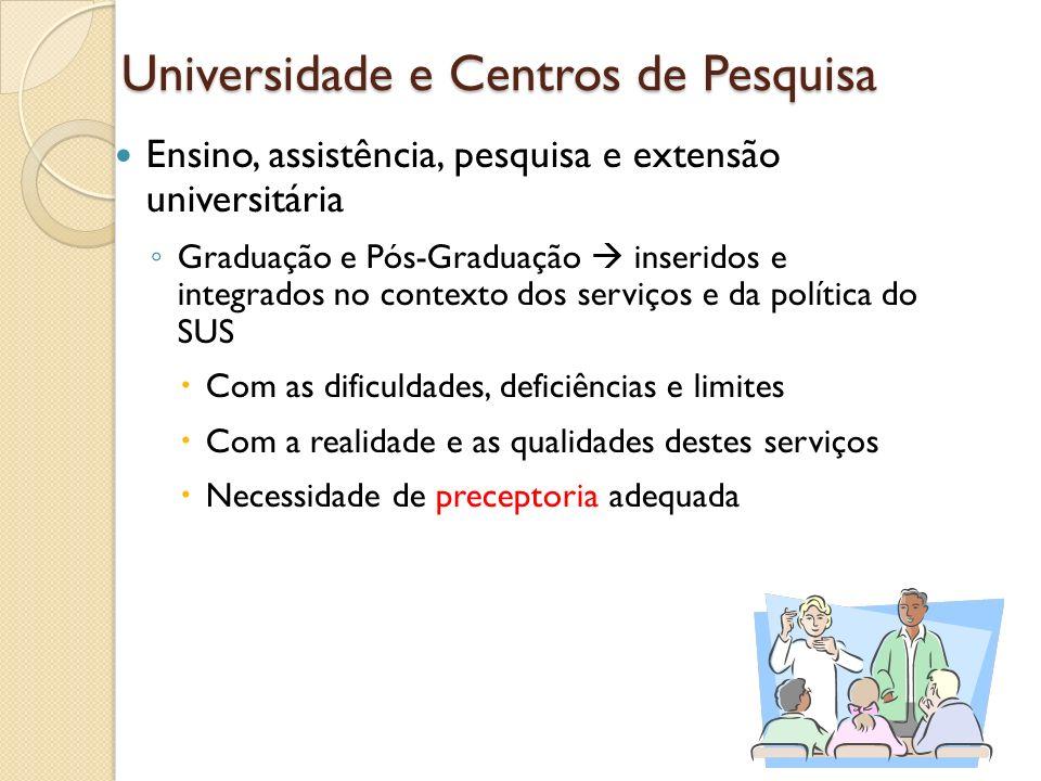 Universidade e Centros de Pesquisa