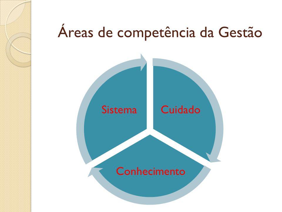 Áreas de competência da Gestão