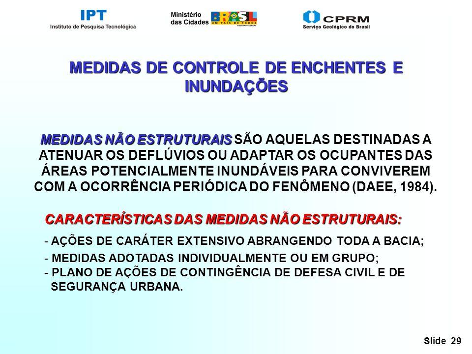 MEDIDAS DE CONTROLE DE ENCHENTES E INUNDAÇÕES