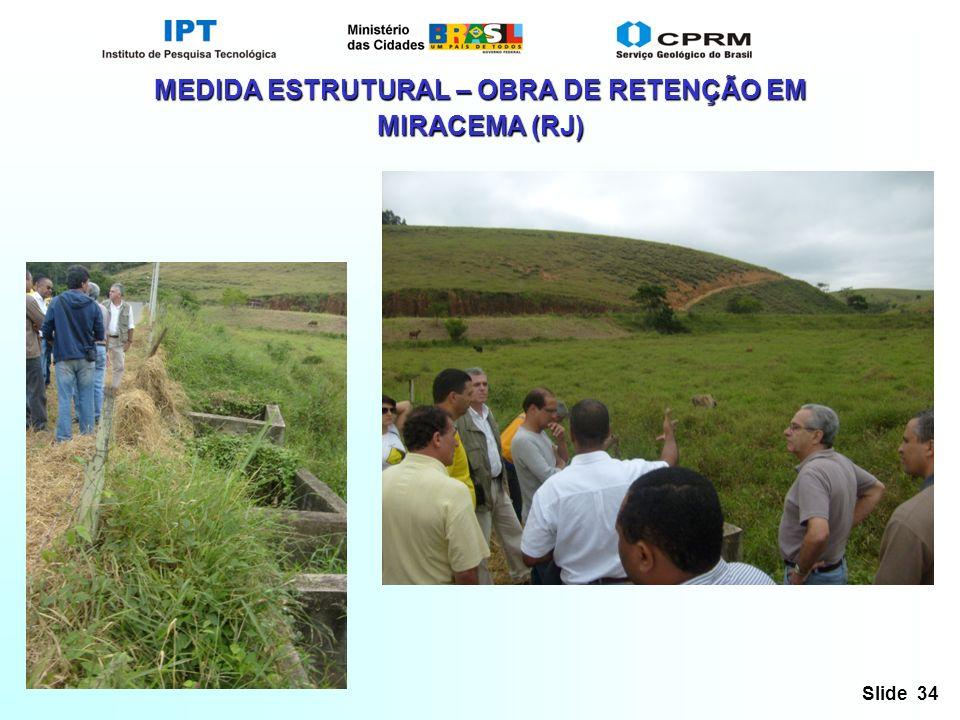 MEDIDA ESTRUTURAL – OBRA DE RETENÇÃO EM MIRACEMA (RJ)