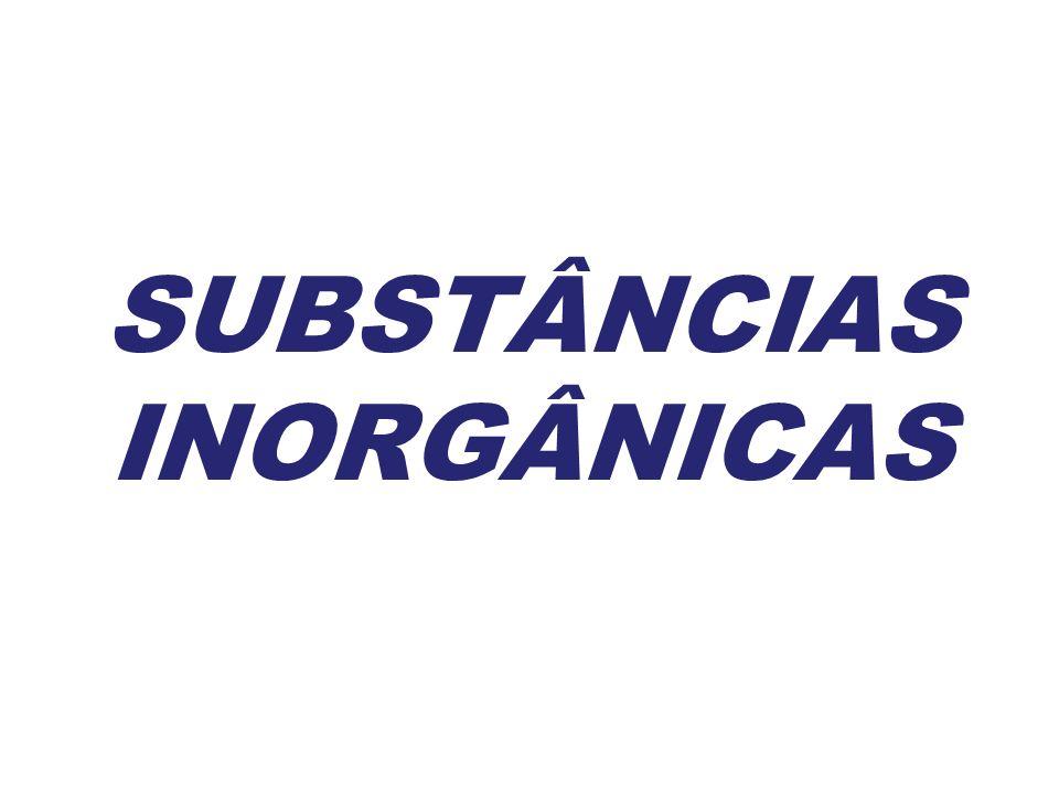 SUBSTÂNCIAS INORGÂNICAS